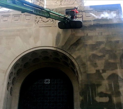 Steam Cleaning Stonework - Restoration