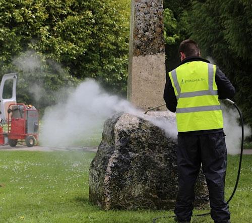 Steam Cleaning Stonework - Restoration